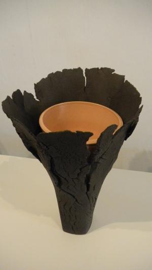Vase en coque
